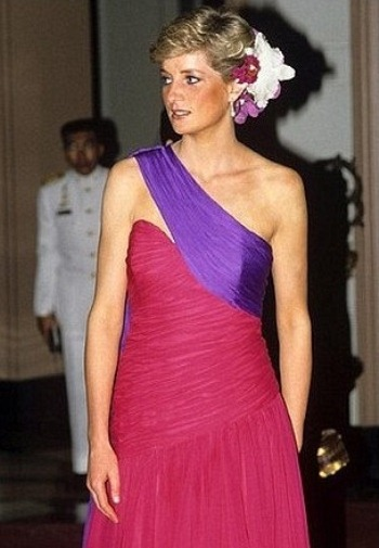 Princess Diana wearing one of the dresses up for auction in March.