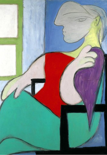 """Woman sitting near a window"" is of Picasso's young mistress."
