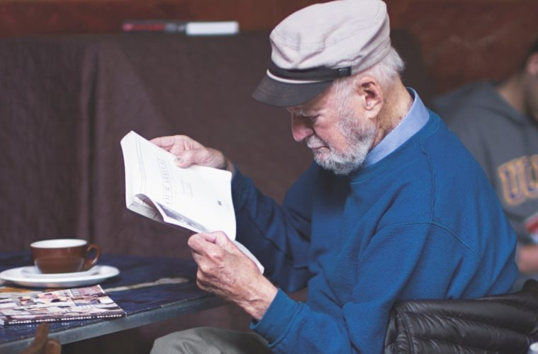 Lawrence Ferlinghetti in 2012 at Caffe Trieste. He helped define the Beat Generation. (Photo Christopher Michel)