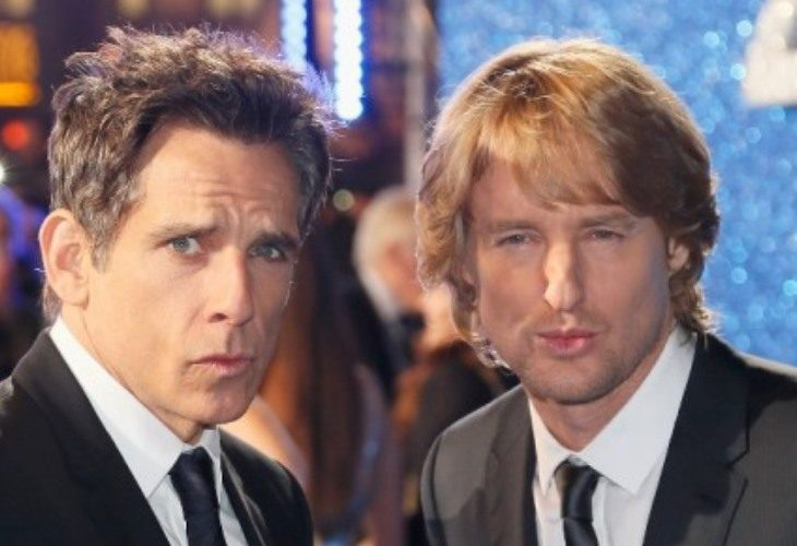 Ben Stiller and Owen Wilson mug for the camera at the London Fan Screening of the Paramount Pictures film .Zoolander 2.' Stiller also set a record for the largest selfie stick photo. (Photo: Getty)