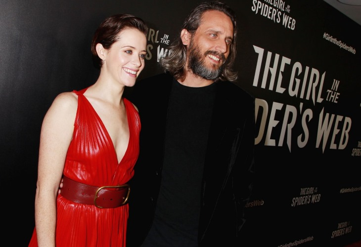 Claire Foy a Lady in Red at Girl in Spider's Web New York City Premiere (Photos!)