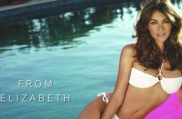 Elizabeth Hurley models her own swimsuit line. (Photo: Elizabeth Hurley Beach)
