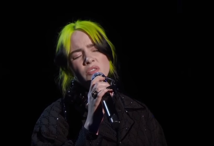 Billie Eilish gave a moving rendition of The Beatles' song 'Yesterday' at the Oscars. (Photo: ScreenCap)