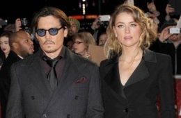 Johnny Depp and Amber Heard in better days. Their ruinous divorce has sidetracked his career in Hollywood. (Photo: Bang ShowBiz)