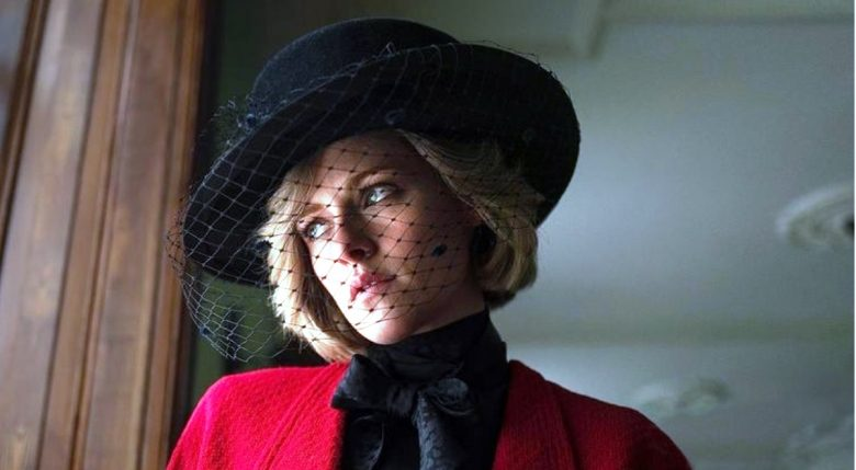 Kristen Stewart first photo released in her role as Lady Diana in the film Spencer.