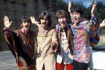 The Beatles in a promo photo from their Magical Mystery Tour in 1967, near the end of their time together. (Photo: Parlophone Music Sweden)