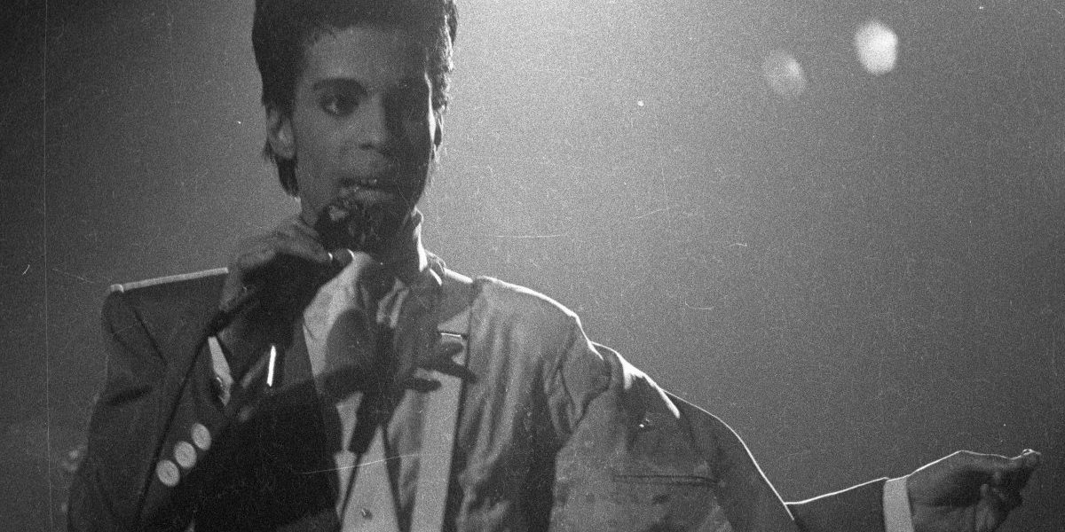 Prince singing in Brussels in 1986. The singer's estate has been socked by a hefty IRS bill. (Photo: Prince)