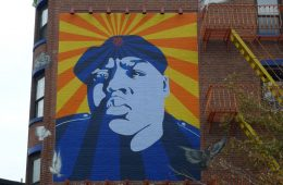 Biggie Smalls is memorialized in this Brooklyn street mural. (Photo: )