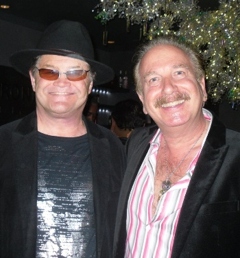 Monkee Micky Dolenz with reviewer and author Mark Bego. (Photo: DisCompany)