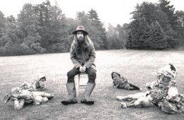 George Harrison posed for his iconic album cover with fanciful garden gnomes. (Photo: George Harrison.com)