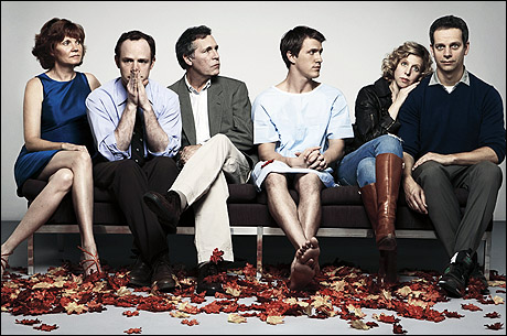 Cast members Connie Ray (Arlene), Sean Dugan (Brandon), Cotter Smith (Butch), Patrick Heusinger (Luke), Maddie Corman (Holly), Patrick Breen (Adam)