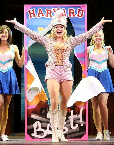 Becky Gulsvig on stage as Elle in Legally Blonde, The Musical.