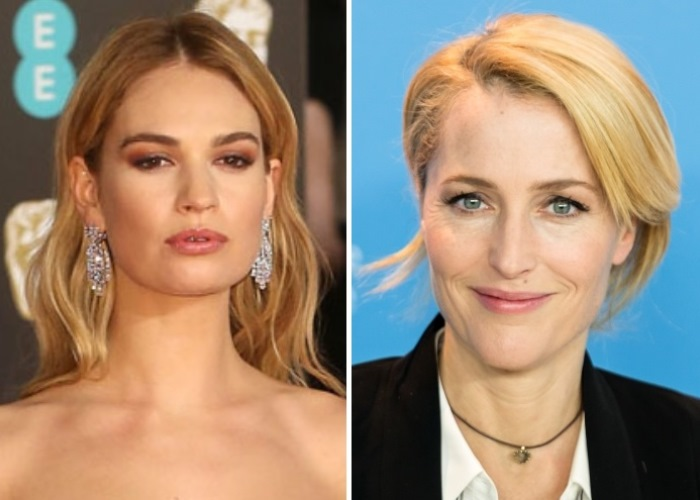 Lily James, Gillian Anderson, All About Eve