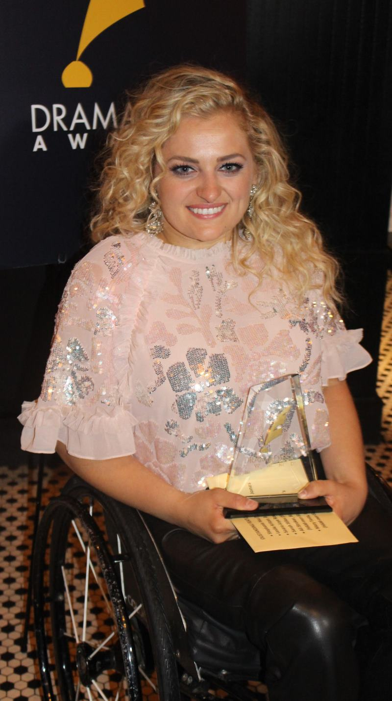 Ali Stroker won Outstanding Featured Actress in a Musical for Rodgers & Hammerstein's Oklahoma! drama desk