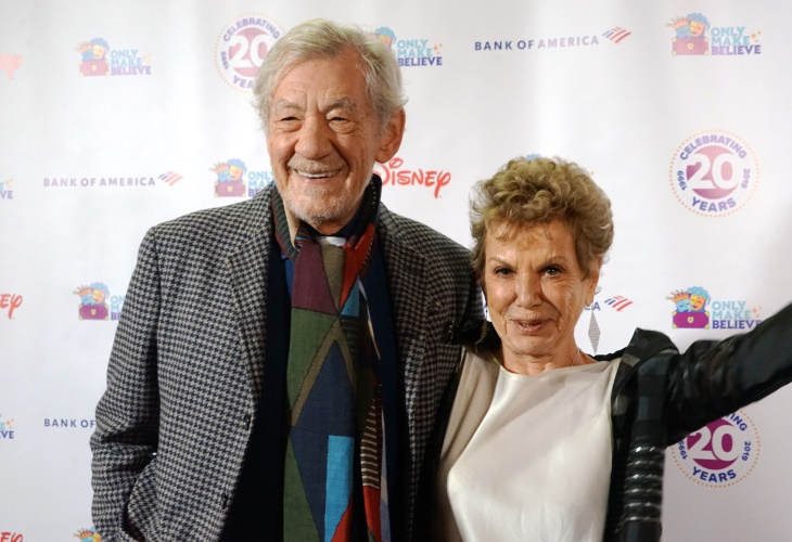 Actor Sir Ian McKellen and producer Dena Hammerstein celebrated Only Make Believe at a Broadway gala. (Photo)