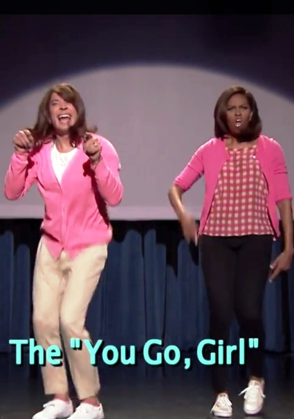 Michelle Obama Gets Funky With Jimmy Fallon 'Mom Dancing' (watch!) 36