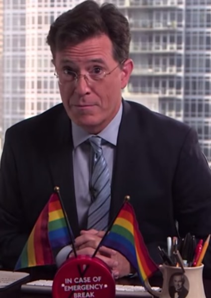 Steven Colbert Sees Gay Marriage Ruling With Rainbow-Colored Glasses 14