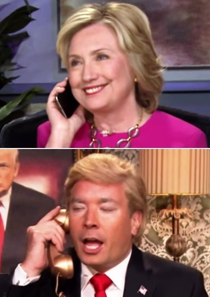 Hillary Clinton Grilled By Donald Trump (aka Jimmy Fallon) on Tonight Show 6