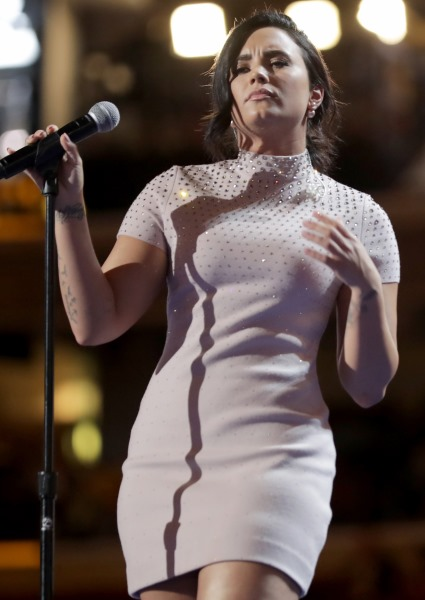Demi Lovato, Sings, Makes Major Plea for Health Care for All at DNC (see!) 8