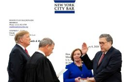 Attorney General William Barr has been accused of violating his oath of office. (Photo Collage: NYI)
