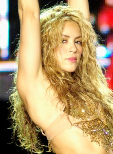 Shakira has hips like that and she's revving them up for the Super Bowl. Hear her new song! (Photo: