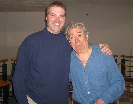 Monty Python's Terry Jones with the author. (Photo: Matt Kindelmann)