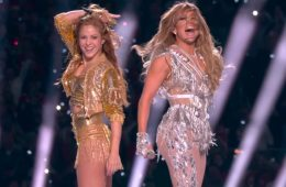 Jennifer Lopez and Latin performer Shakira lived up to Super Bowl hype with the electrifying halftime show. (Photo: YouTube/ScreenCap)