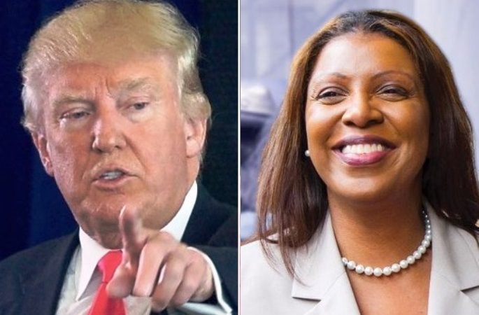 Donald Trump faces another lawsuit by New York Attorney General Letitia James (right): Photo collage: Getty/Twitter