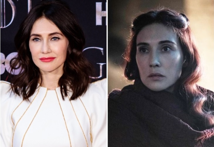 Carice Van Houten and her character Melisandre on Game of Thrones. (Photo Collage: Sachyn/ HBO)