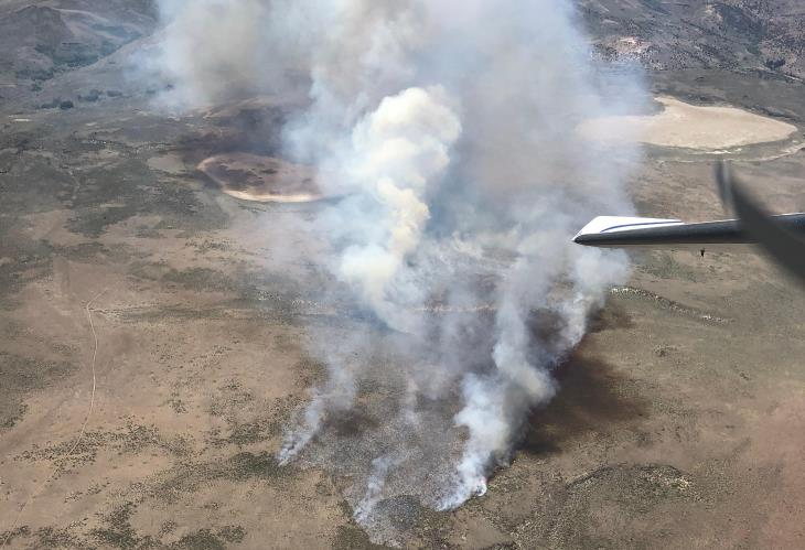 The Aurora Fire in California as seen from the air. Thousands of acres have been scorched this year. (Photo: Calif. Bureau of Land Management)