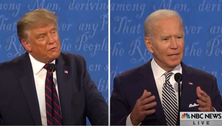 Donald Trump went off the rails in his first presidential debate with Joe Biden. (Photo: YouTube/ScreenCap)