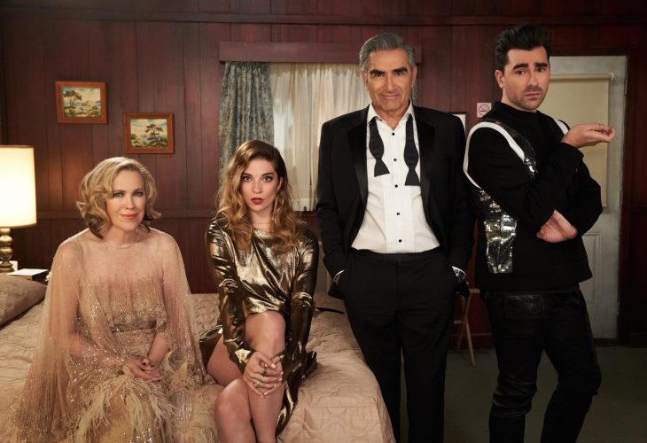 Who knew? Canadian sitcom Shitt's Creek wins big at the Emmys (Photo: PopTV)
