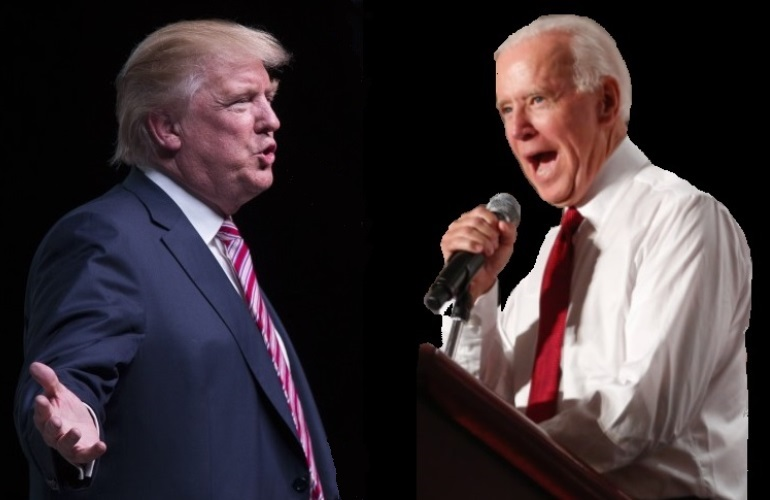 Donald Trump may be angling for a pardon from Joe Biden. (Photo: NYI Collage)