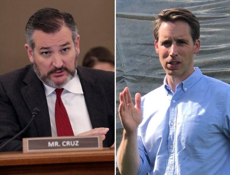 Sen Ted Cruz and Sen Josh Hawley