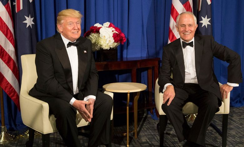 Donald Trump and Australian Prime Minister meet in 2017.