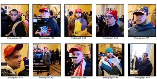 The FBI is seeking these Capitol riot suspects. (Photo: FBI)
