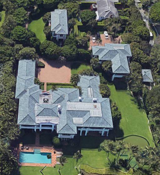 Rush Limbaugh's palatial Palm Beach compound. (Photo: Google Earth)