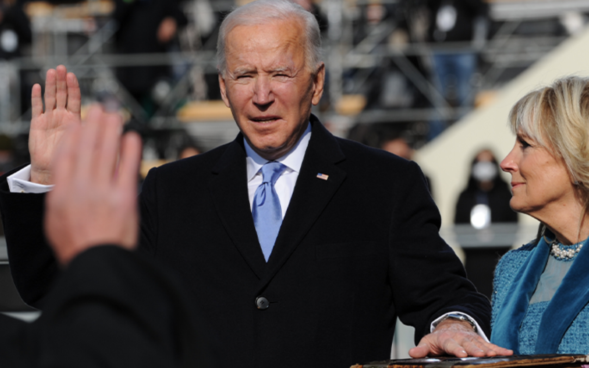 President Biden at his swearing in. (Photo: Joint Congressional Committee on Inaugural Ceremonies)