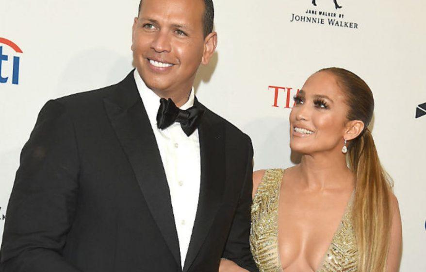 Alex Rodriguez and Jennifer Lopez during better times. (Photo: Bang ShowBiz)
