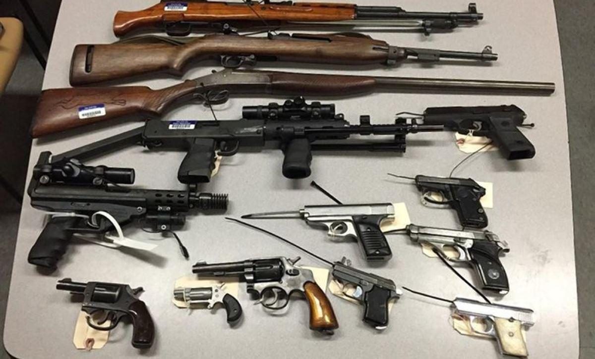 Guns taken off New York City streets during a gun buyback program. (Photo: NYPD)