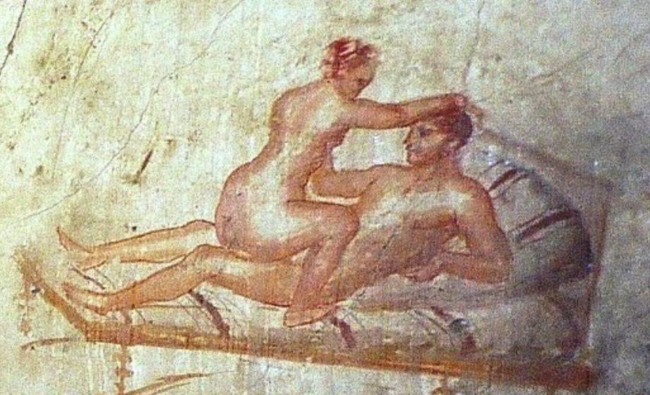 Wall art from the ancient city of Pompeii depicts prostitution. (Photo: Ancient Artist)