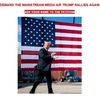 Trump Whines Because 'Fake News' Media Ignores Rallies; GOP Petitions for Coverage 1
