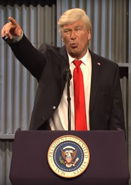 Alec Baldwin Keeps Truckin' as Donald Trump in SNL Cold Open (see!) 32
