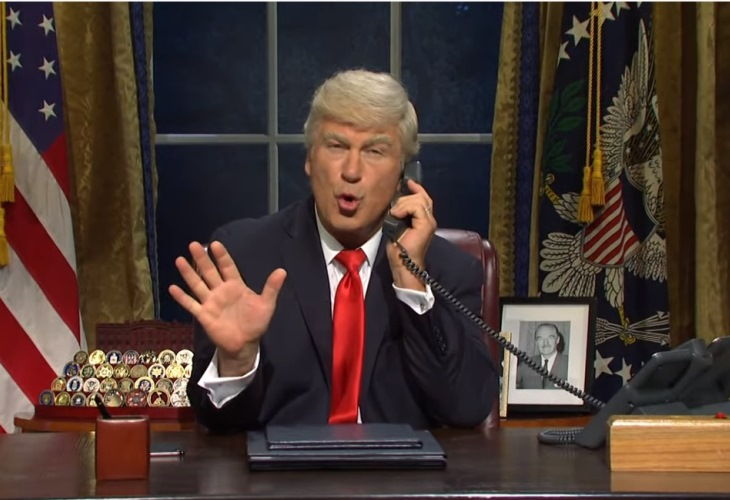 Donald Trump tries to get around  impeachment with a little help from his friends in an SNL cold open. (Photo: SNL/ScreenCap)