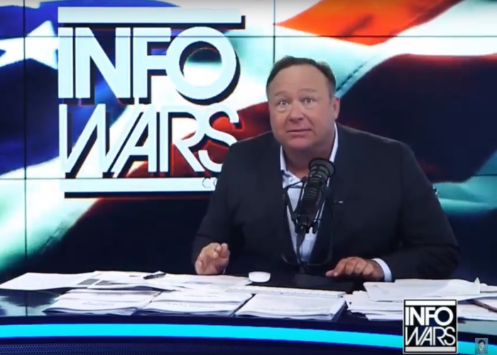 Alex Jones who traffics in hard-right hate, conspiracy theories is pushing a fake coronavirus cure, officials say.   (Photo: ScreenCap)
