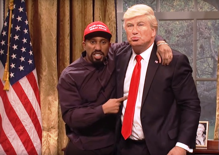 Donald Trump Kanye West Hug It Out in SNL Cold Open; Pure Genius! (See!) 8