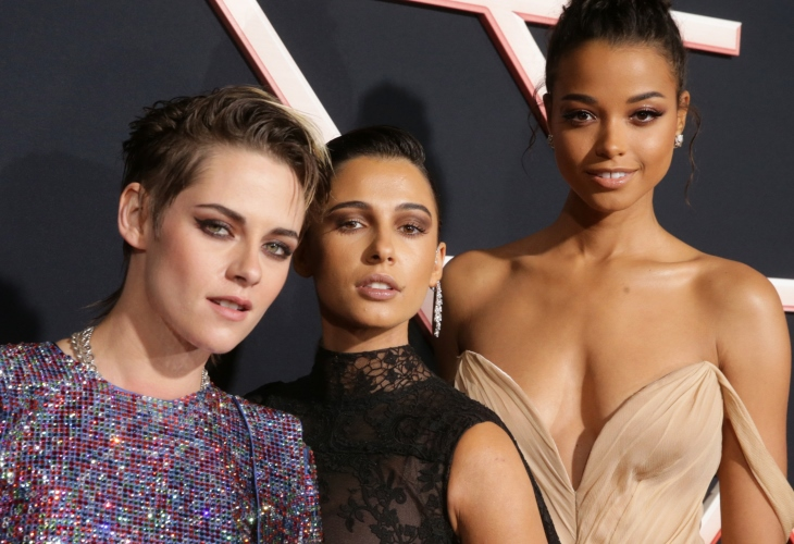 Kristen Stewart, Naomi Scott and Ella Balinska at the World Premiere of Columbia Pictures' Charlie's Angels at the Regency Village Theatre in Los Angeles. (Photo: Steve Cohn)