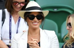 Megan Markle at the U.S. Open to cheer on Serena Williams. (Photo: Bang ShowBiz)