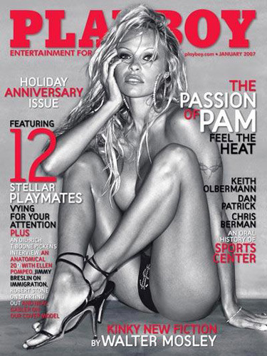 Pam Anderson Channels La Dolce Vita For Record 14th Playboy Cover 3