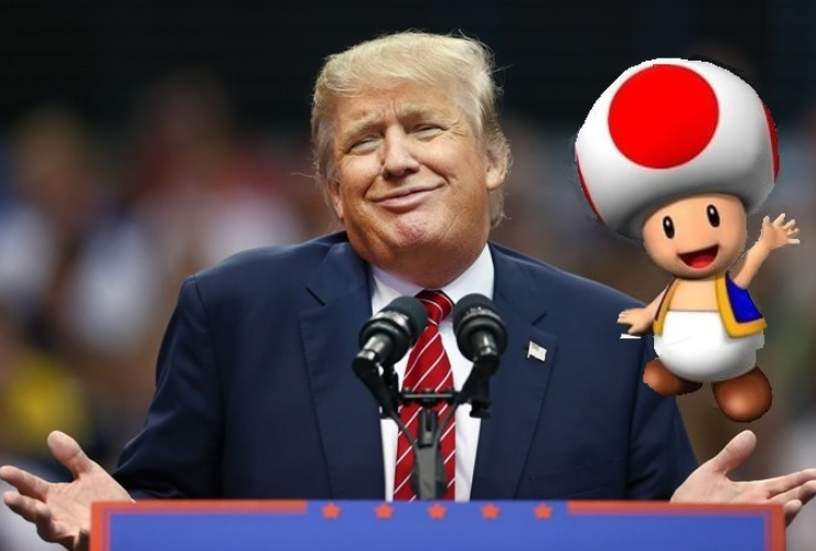 Donald Trump Toad Mario Cart